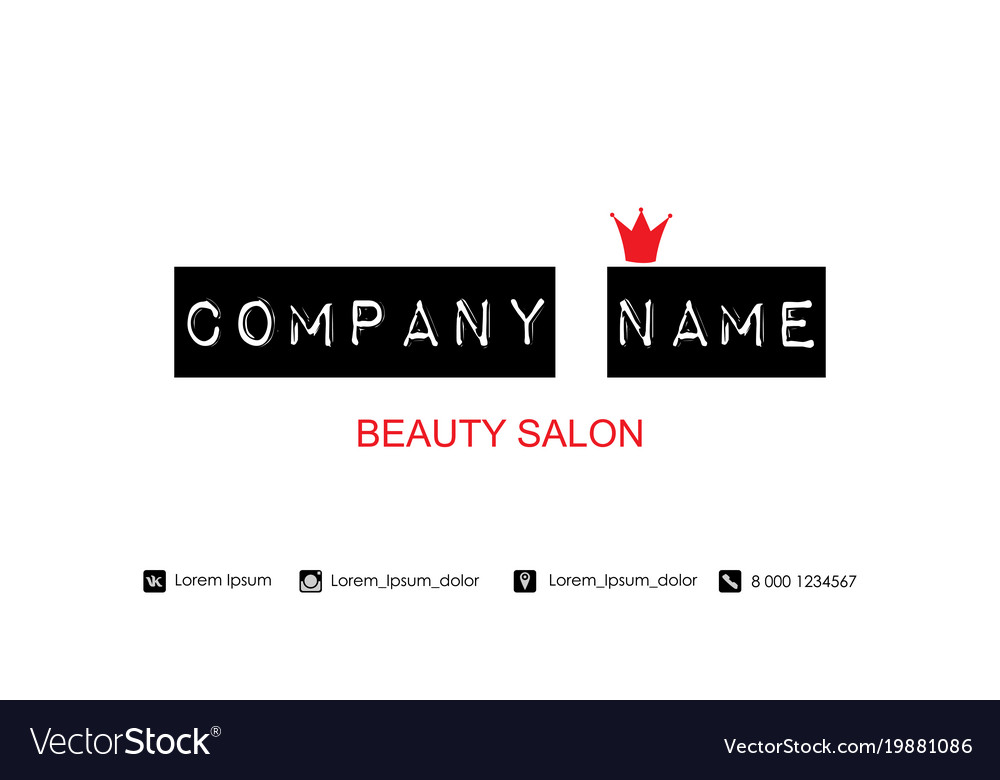 Beauty salon business card template royalty free vector beauty salon business card template vector image colourmoves