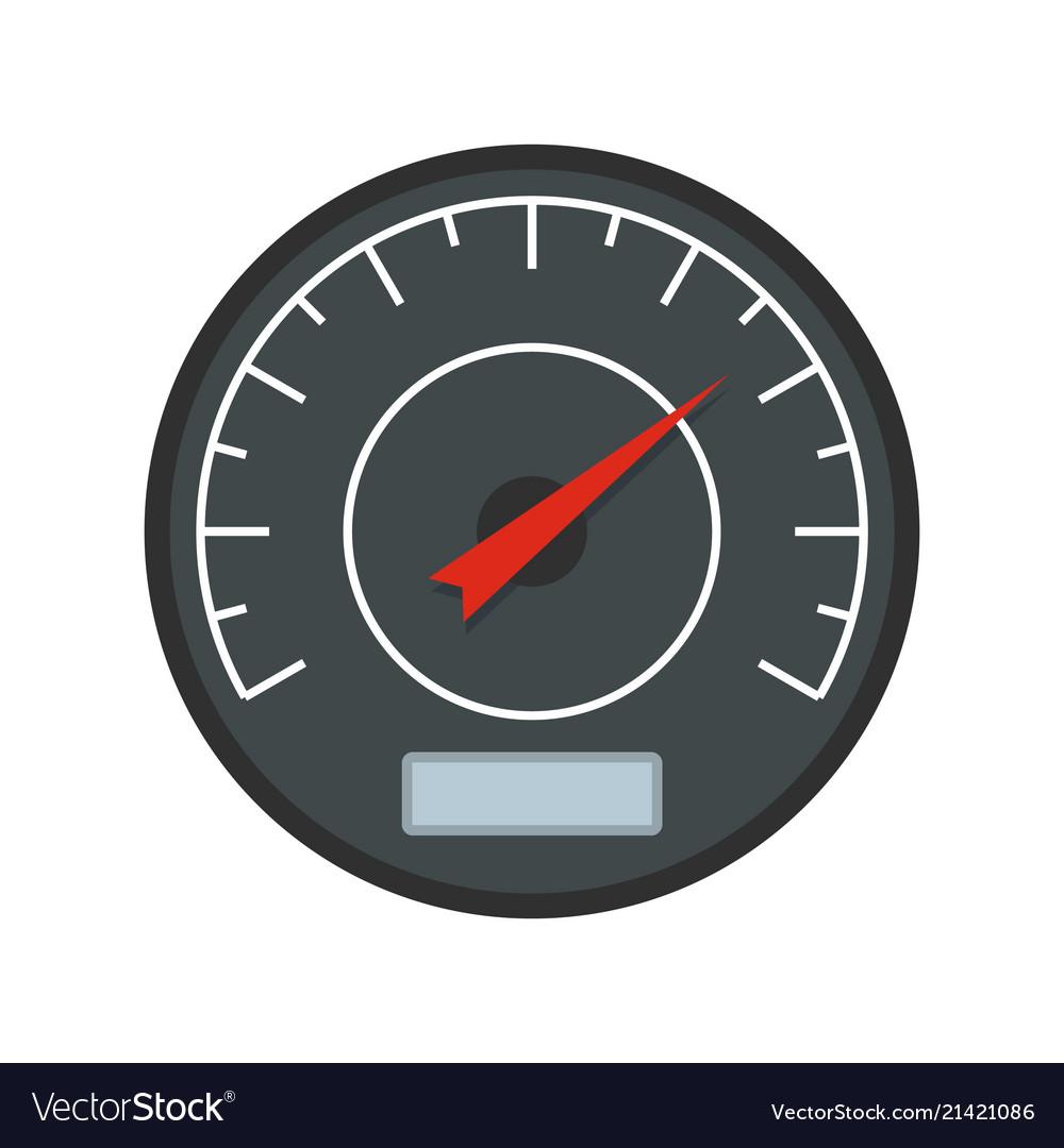Black dashboard icon flat style