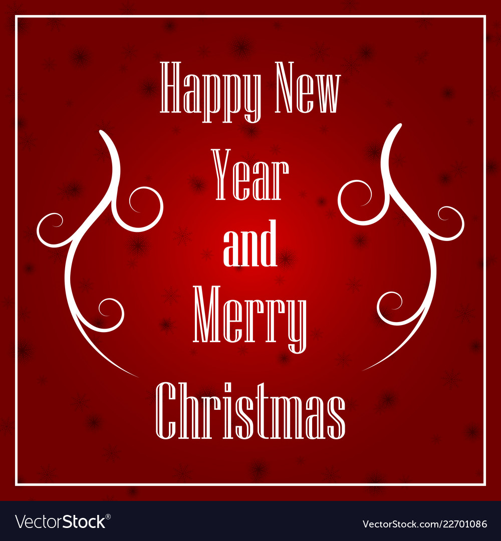 Christmas and new year typographical on xmas