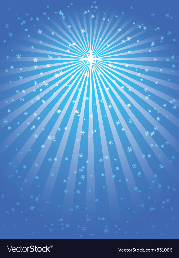 Christmas star blue vector background