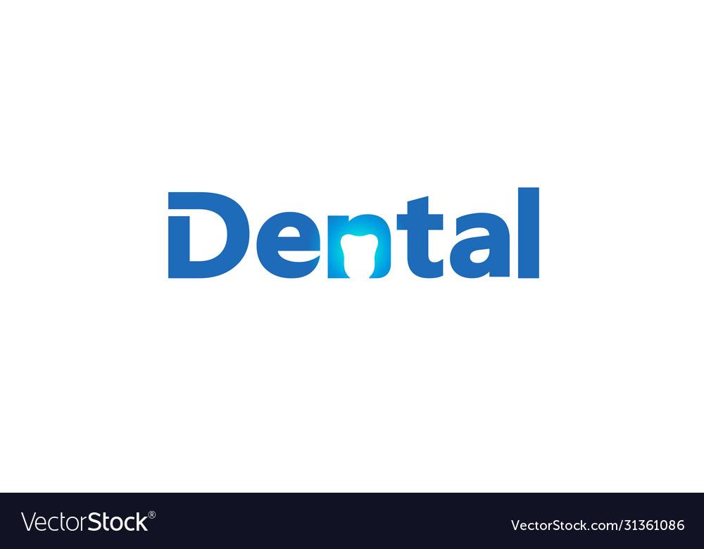 Creative dental care clean blue teeth logo design
