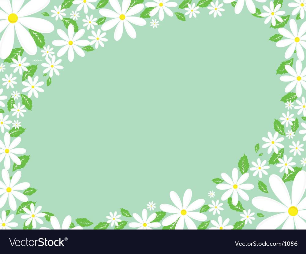 Daisy border royalty free vector image vectorstock daisy border vector image izmirmasajfo