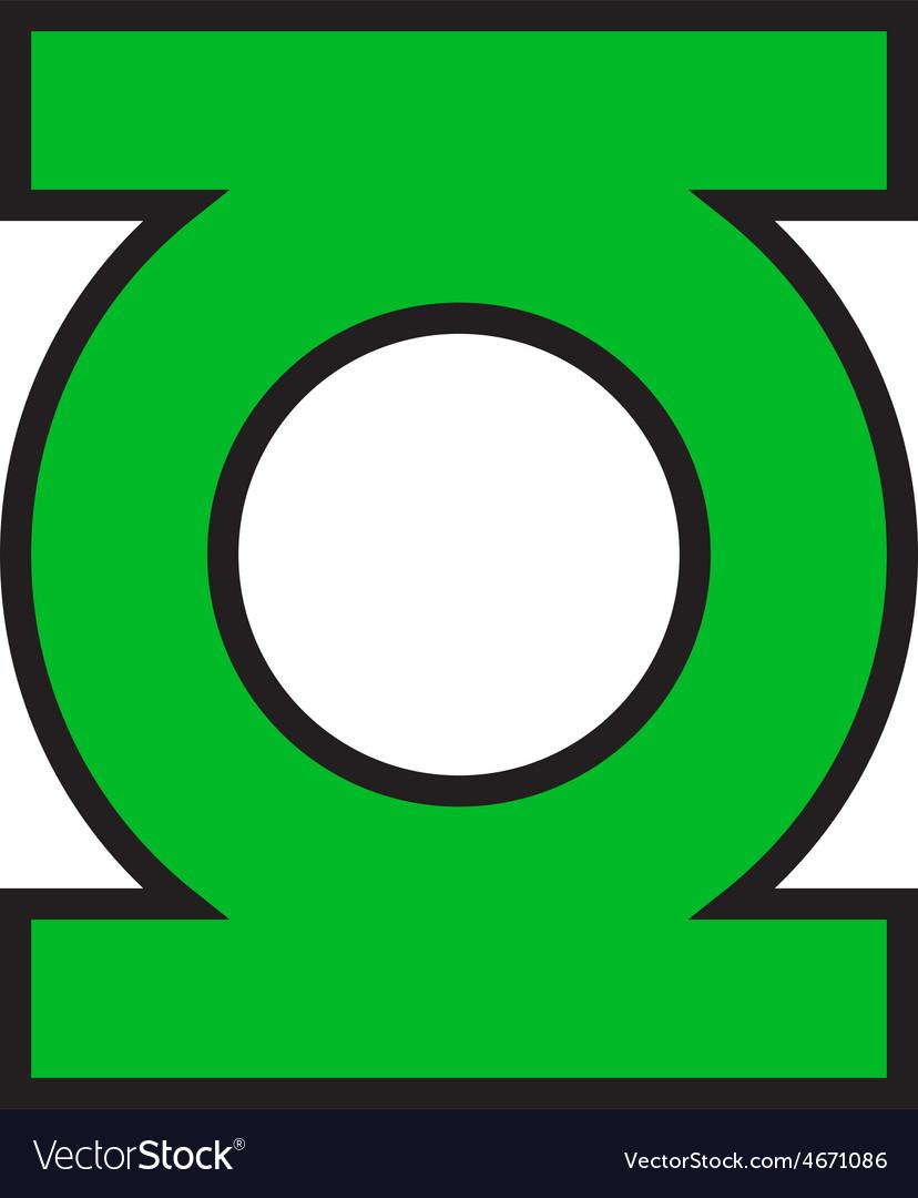 Green Lantern Logo vector image