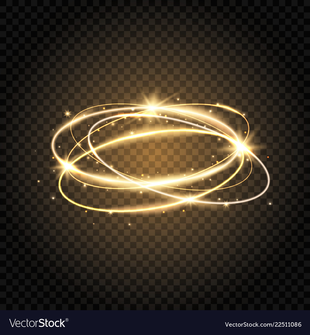 Light swirl glow shiny spiral gold circle line