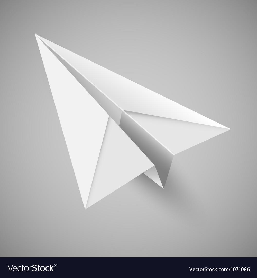 Origami paper airplane
