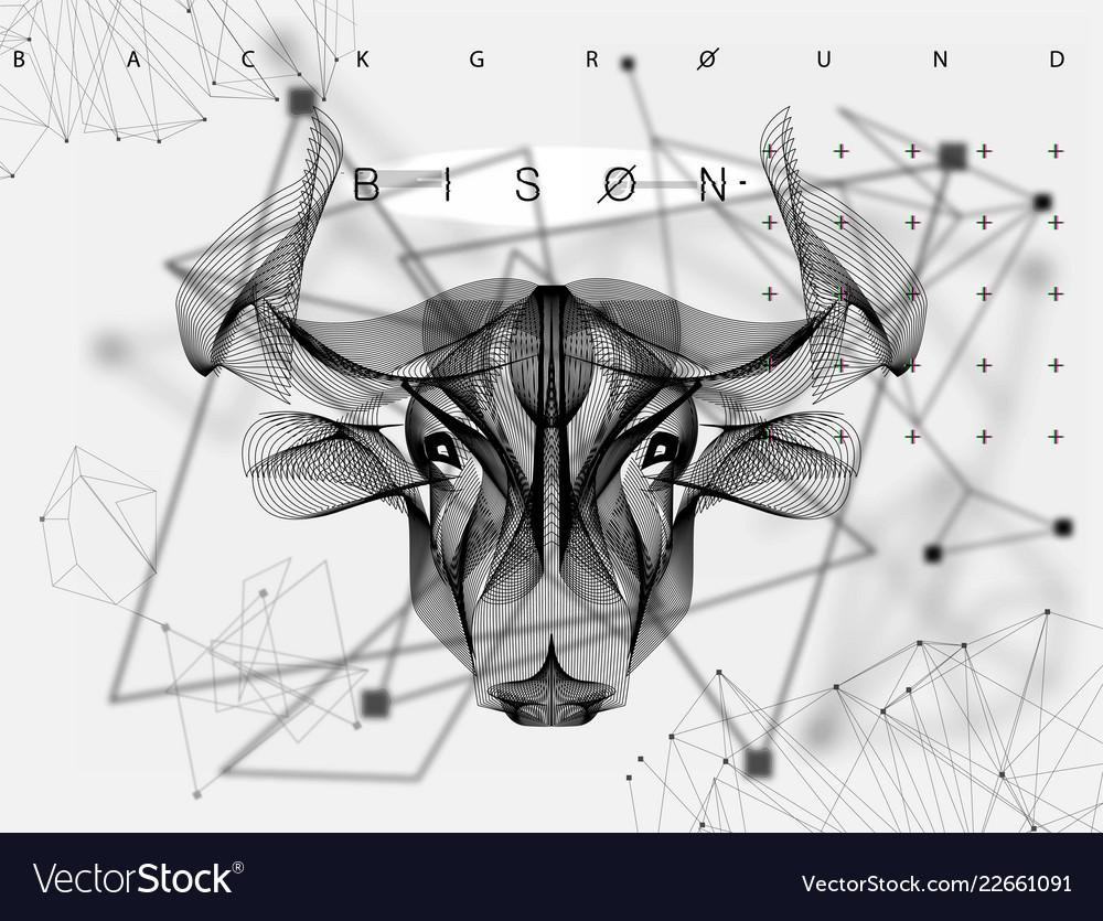 Abstract animal poster bull