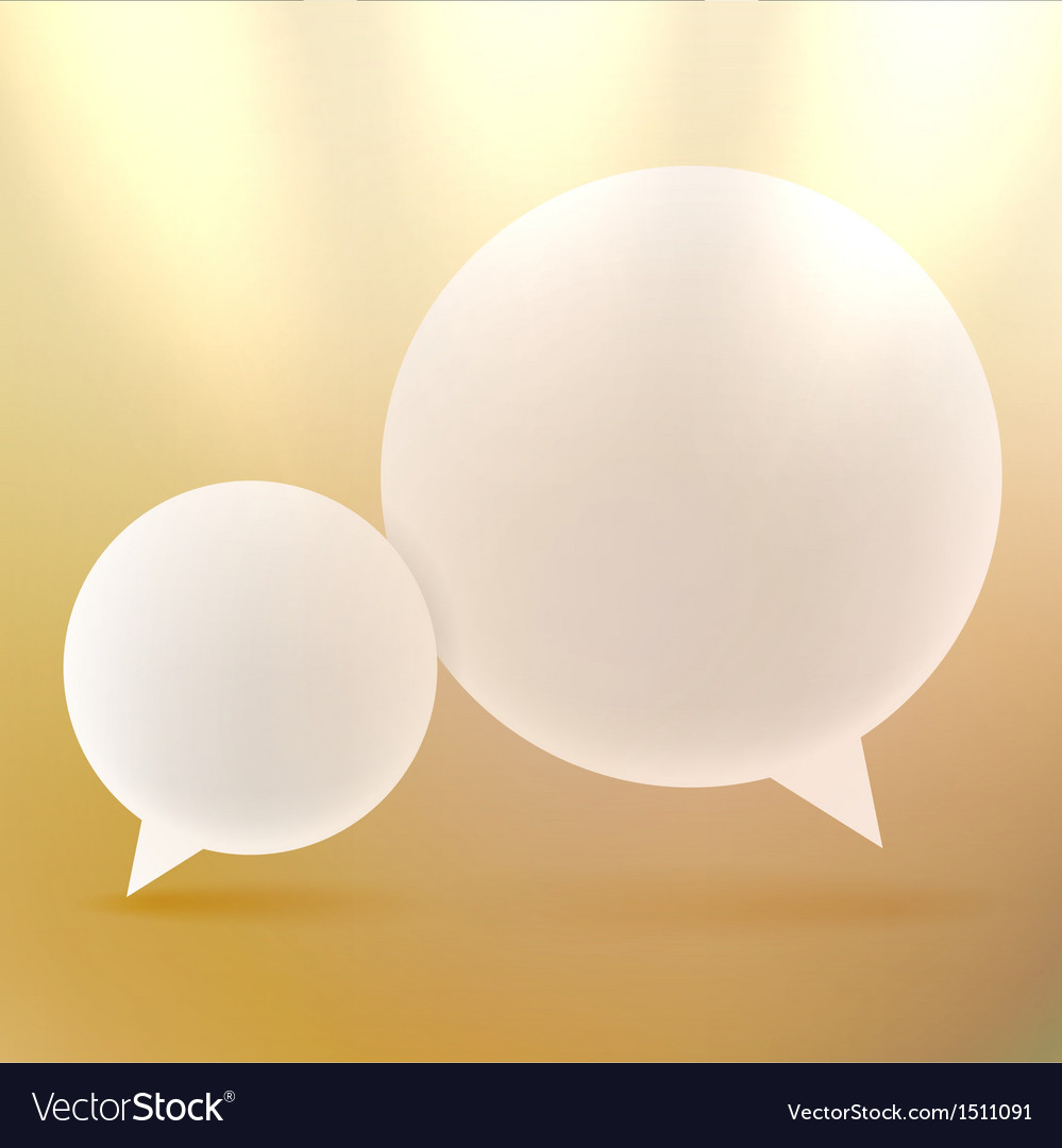 Abstract background with Speech bubbles on gold