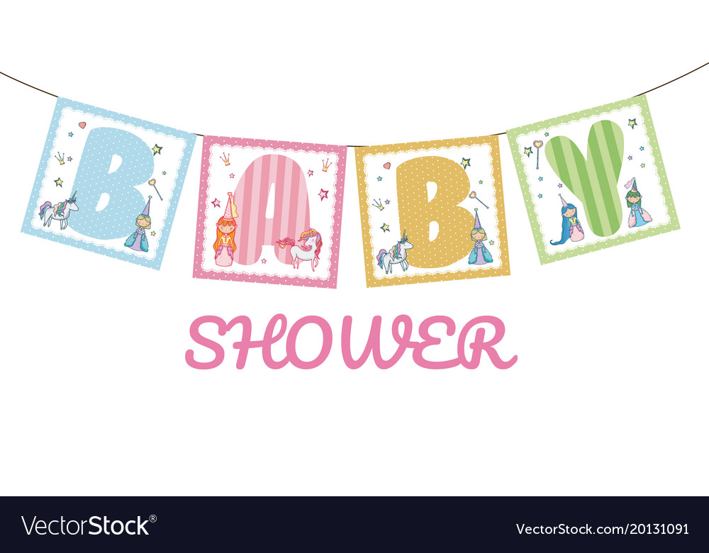 baby shower banner royalty free vector image vectorstock