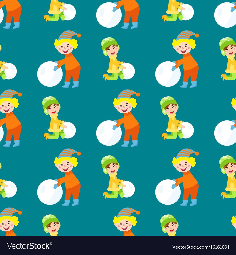 christmas kids playing winter games children vector image - Christmas Games For Toddlers