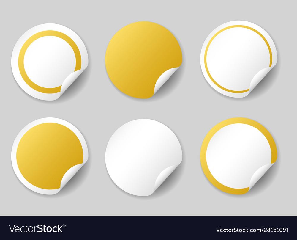 Gold circle price tags