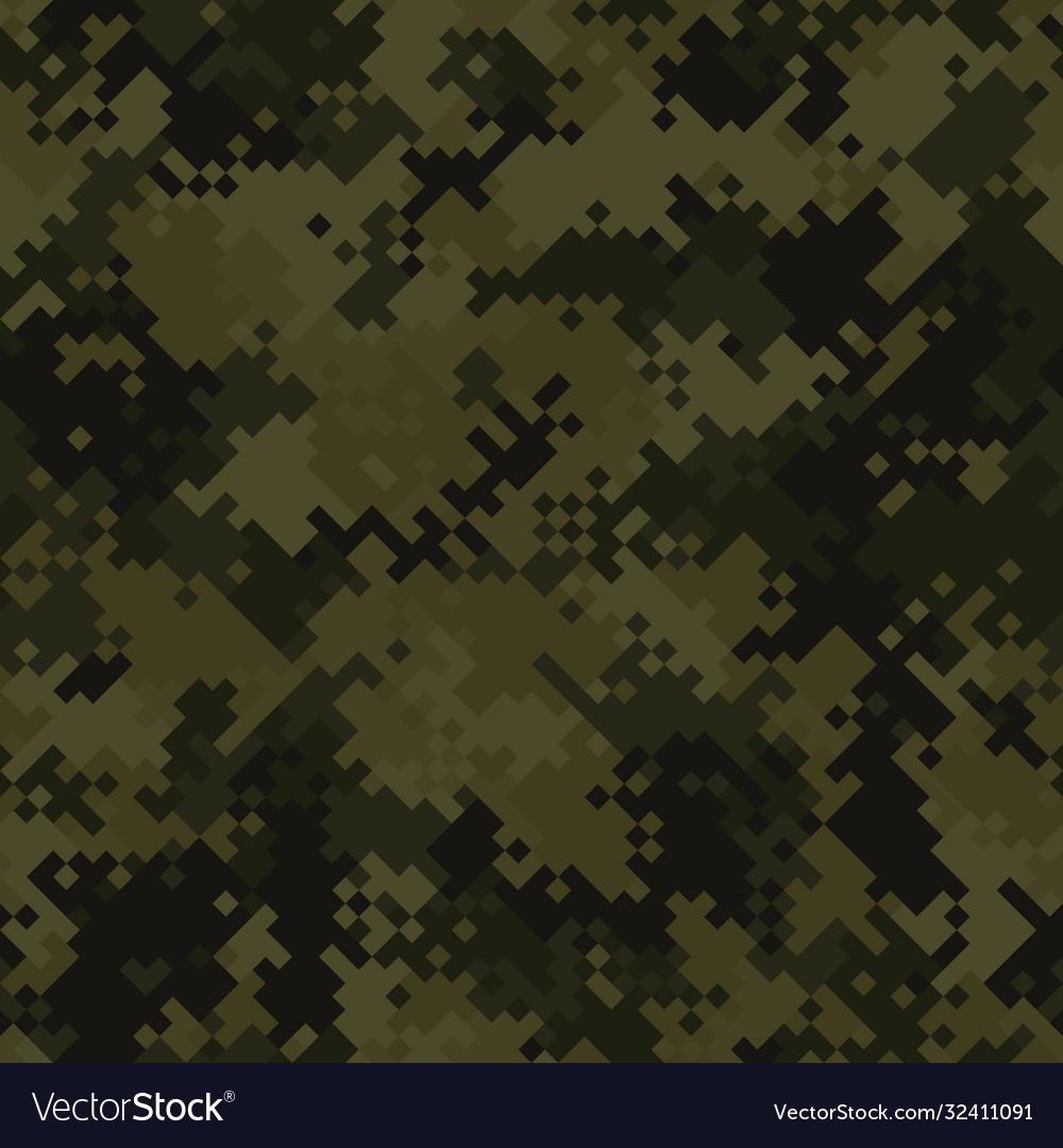 Seamless digital woodland pixel camo texture