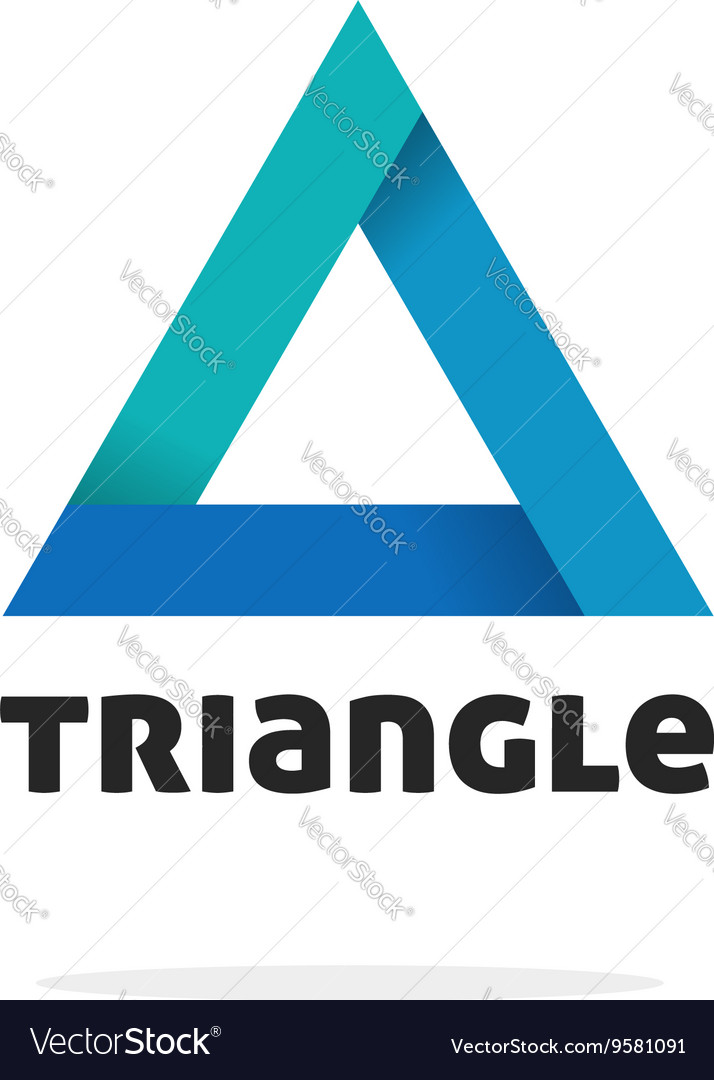 Triangle logo isolated gradient abstract vector image