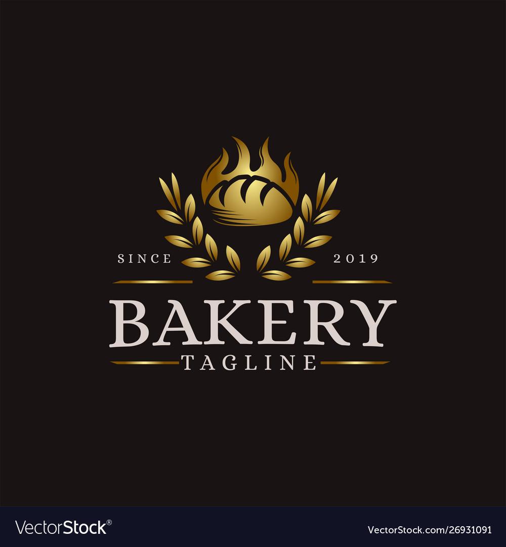 Vintage retro hipster label emblem logo bakery