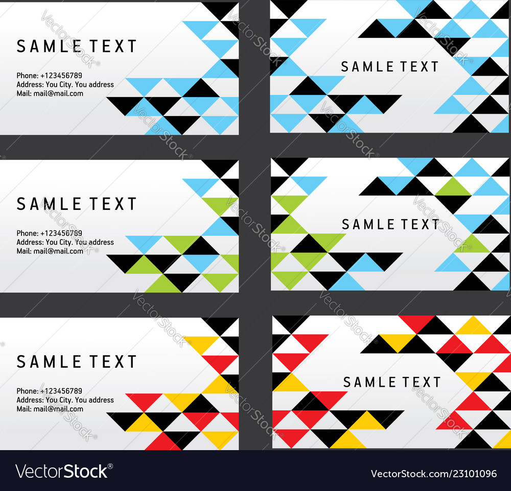 Abstract creative triangle business card template