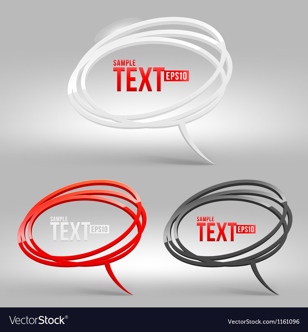 Abstract glossy speech bubbles