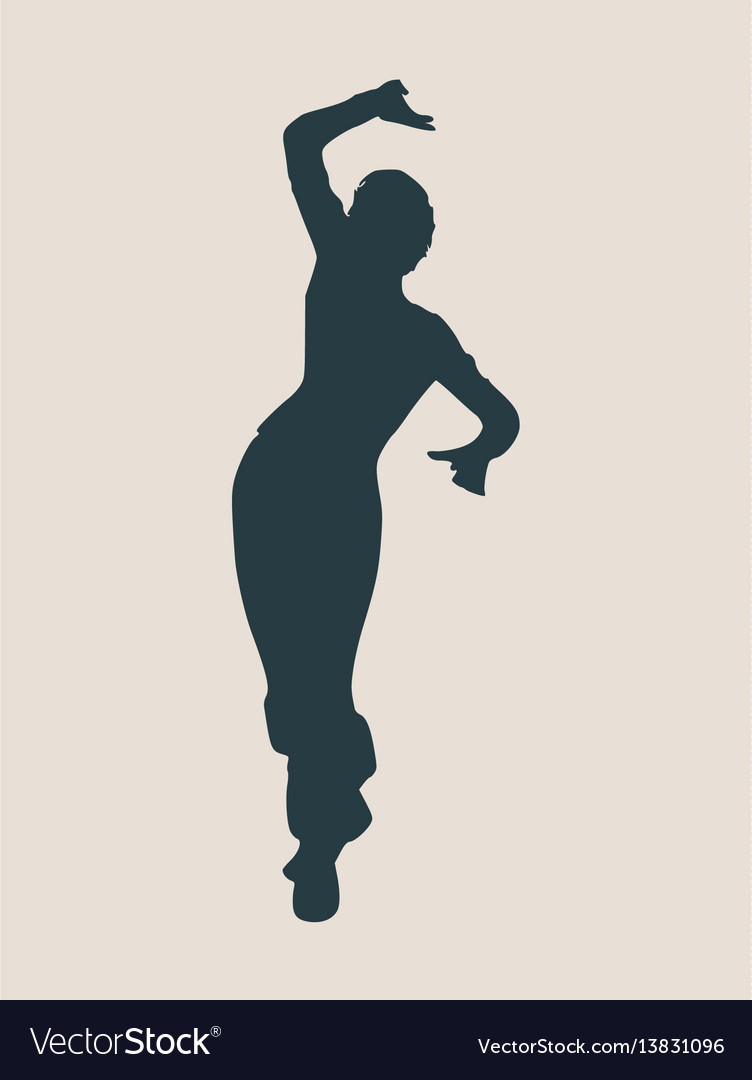 Abstract women in dancing pose