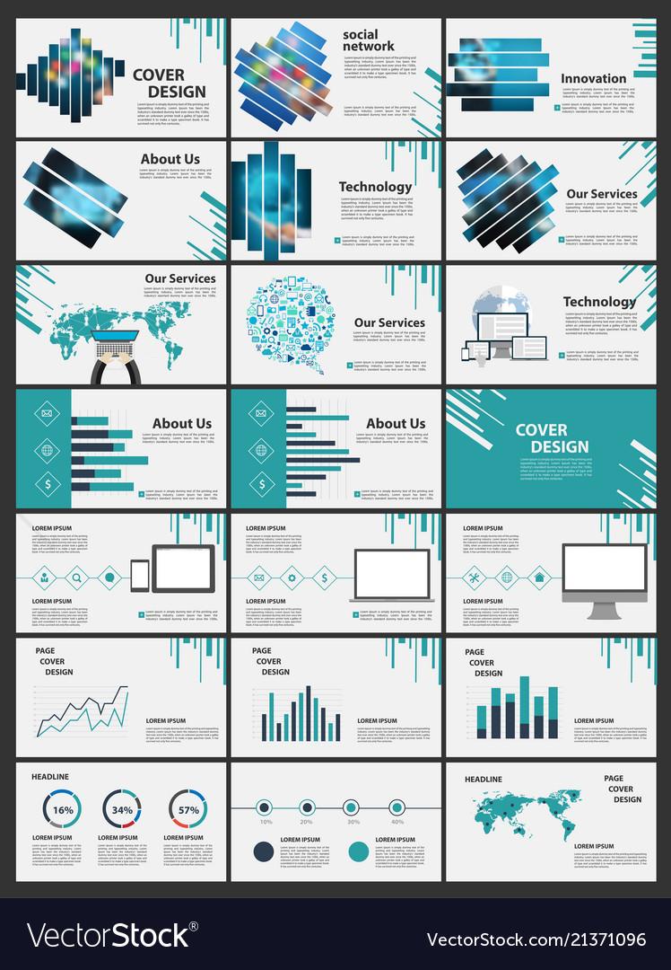 Blue elements for infographics presentation