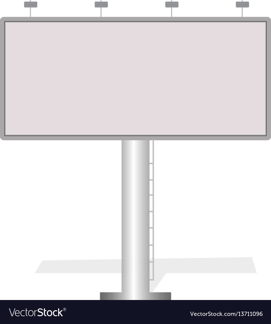 Business white big billboard for advertising vector image