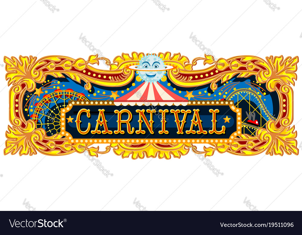 carnival banner circus template royalty free vector image