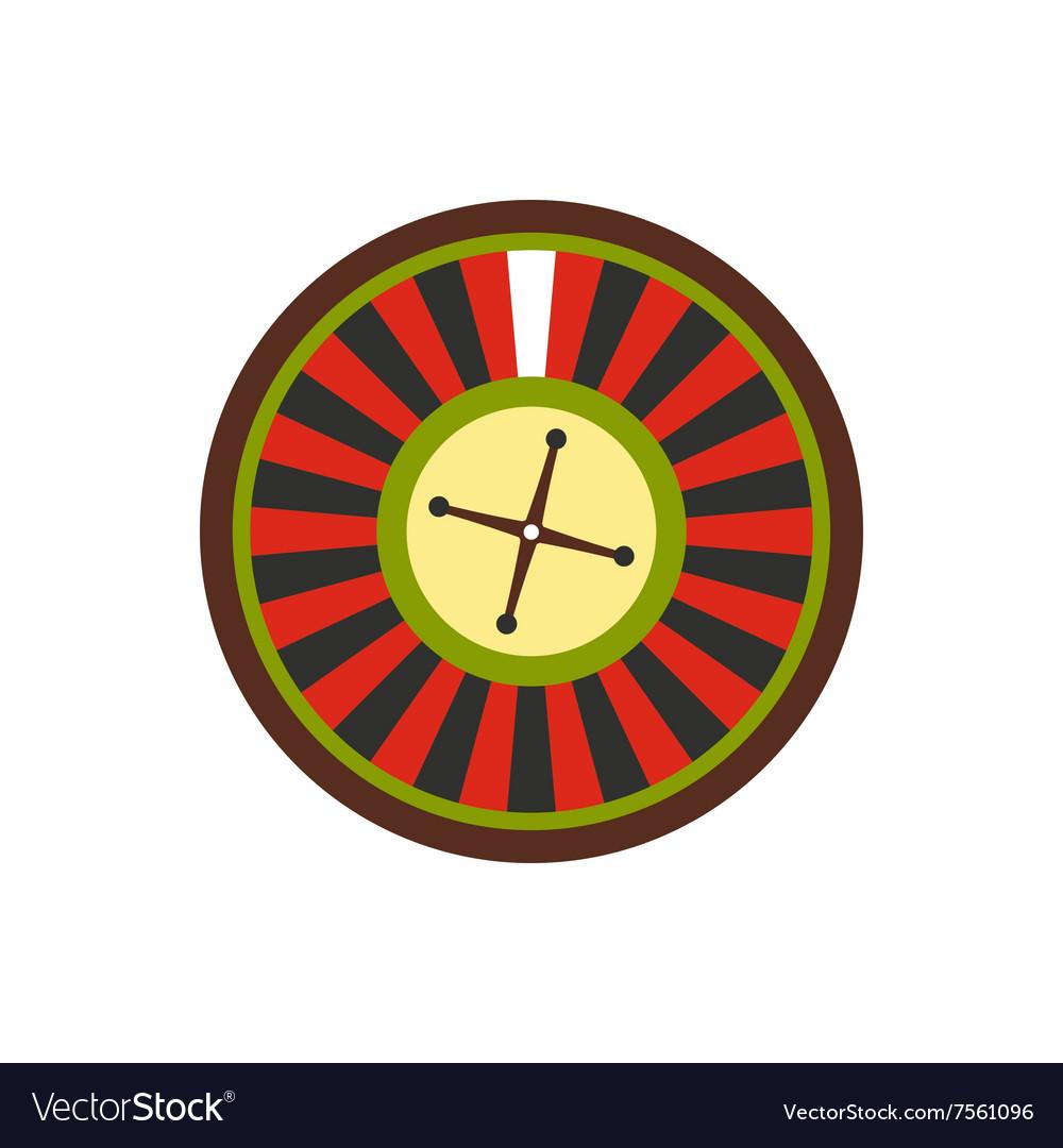 Casino symbol roulette flat icon