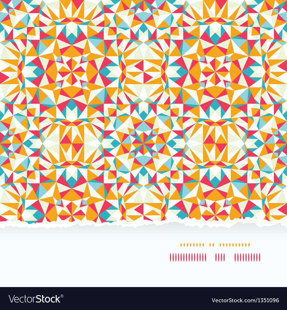 Colorful triangle torn paper border seamless