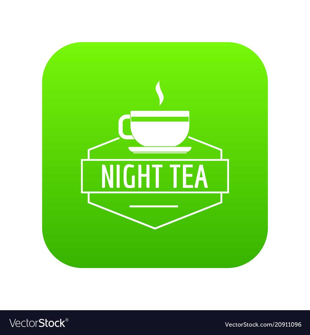 Cup tea icon green
