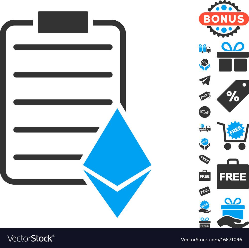 Ethereum contract icon with free bonus