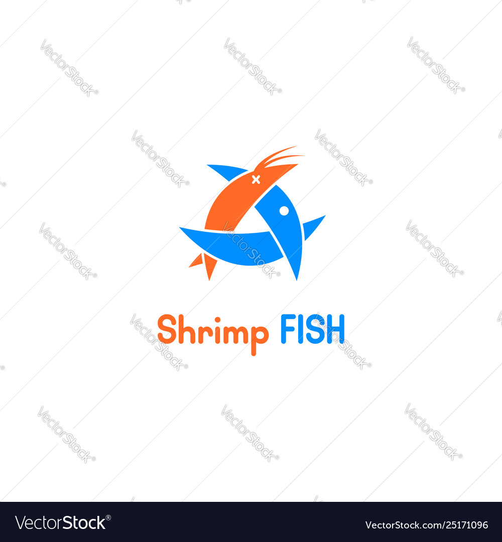 Fish eat shirmp logo