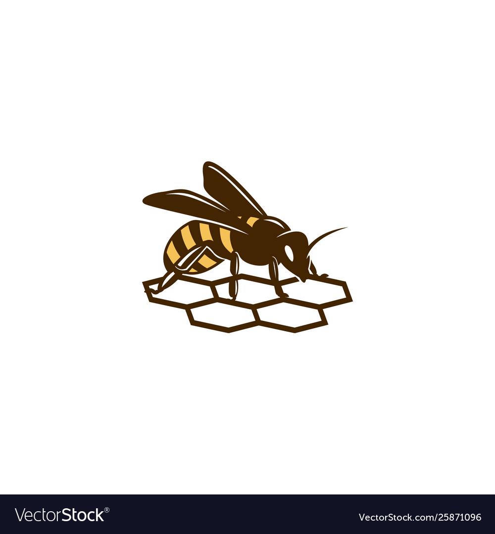 Honey-bee-logo-template