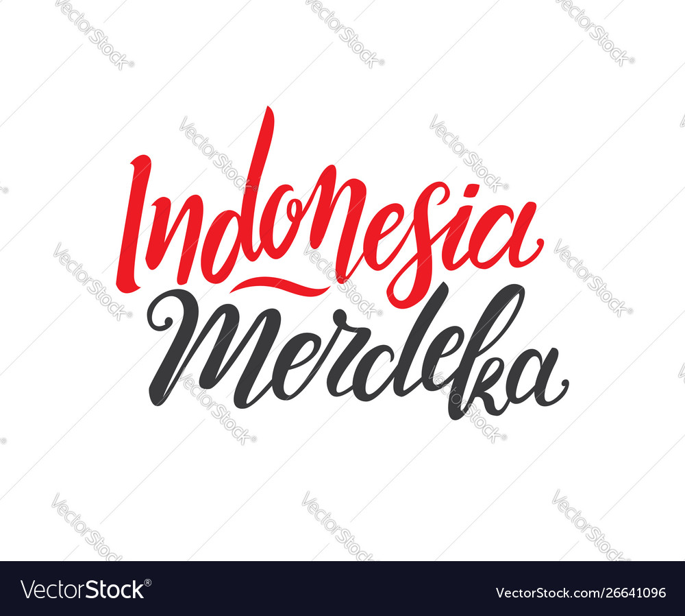 Indonesian independence day vector