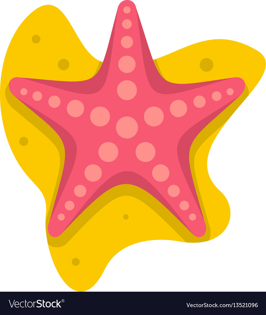 sea star icon flat style royalty free vector image