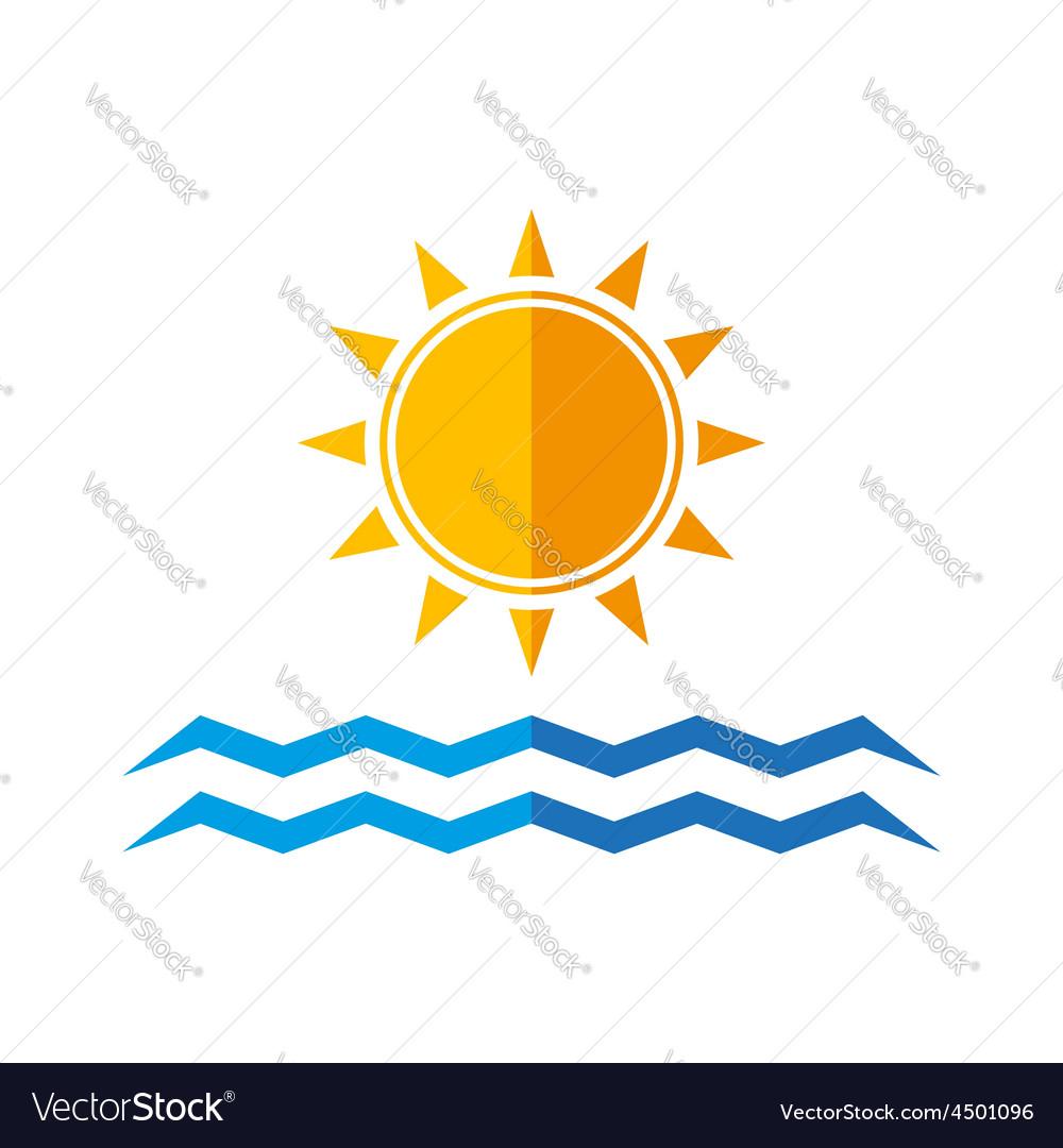Sun and sea waves