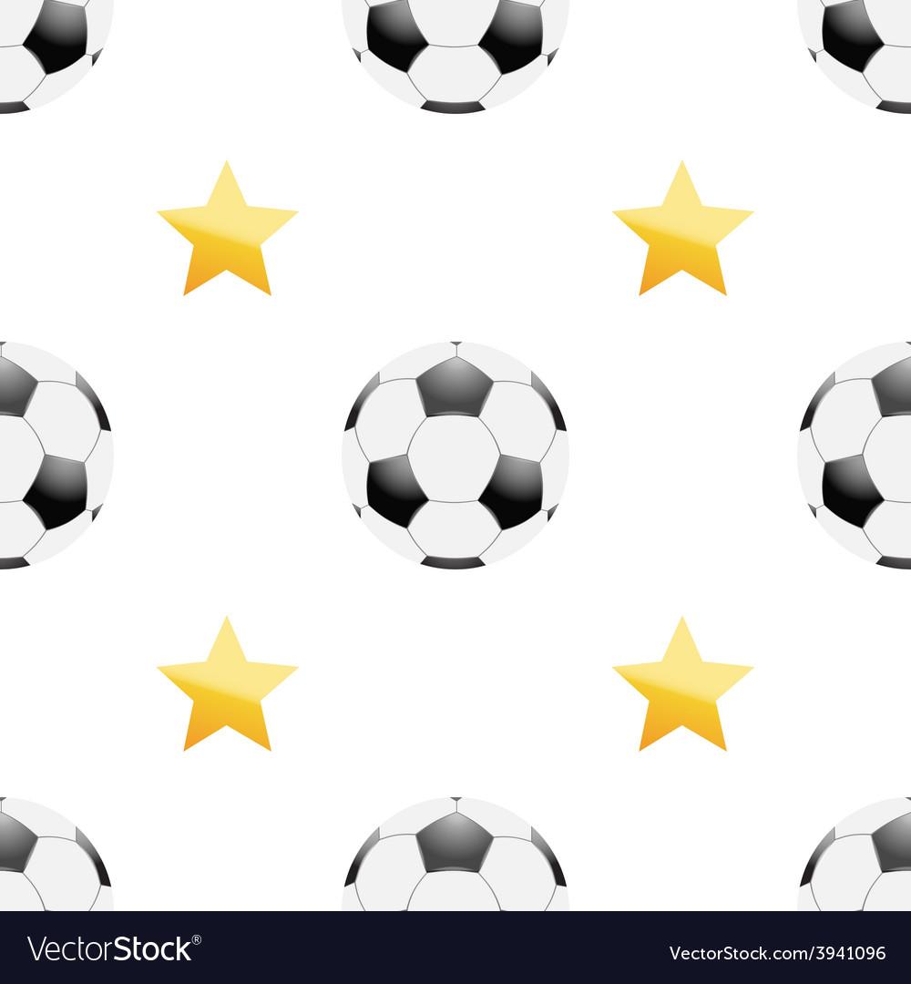 Universal football seamless patterns tiling