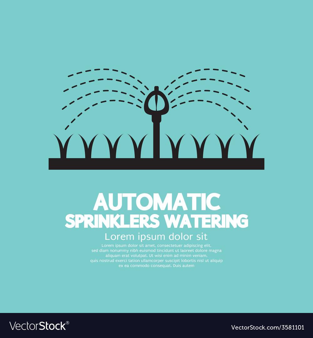 Automatic Sprinklers Watering vector image