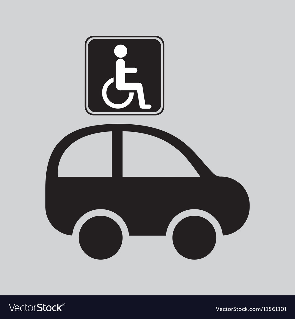 Disabled handicap sign graphic