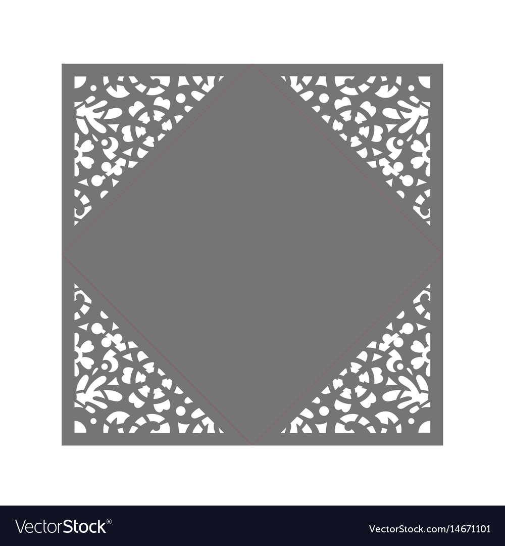 Laser cut template Royalty Free Vector Image - VectorStock