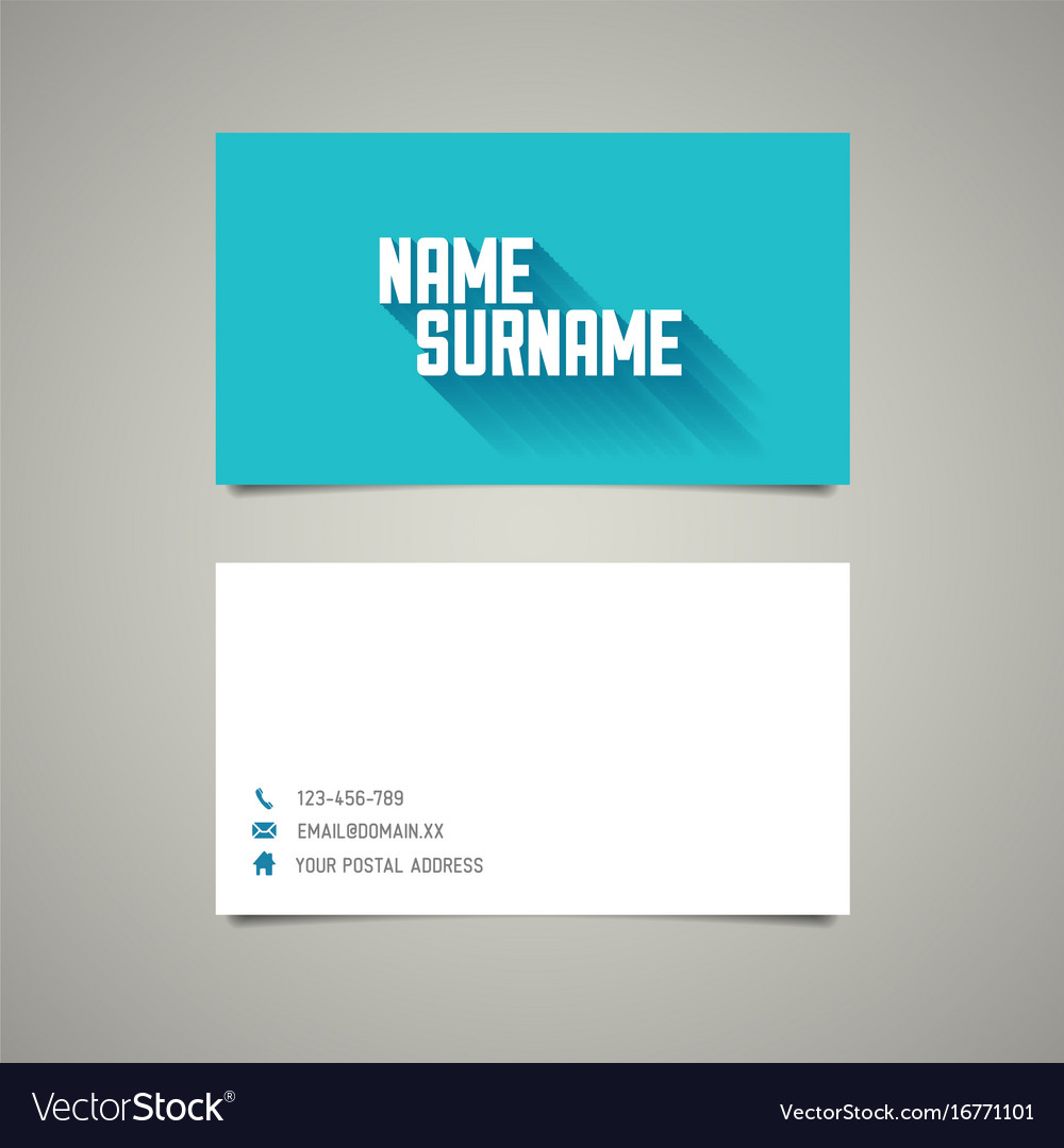 Modern simple business card template with long vector image accmission Choice Image