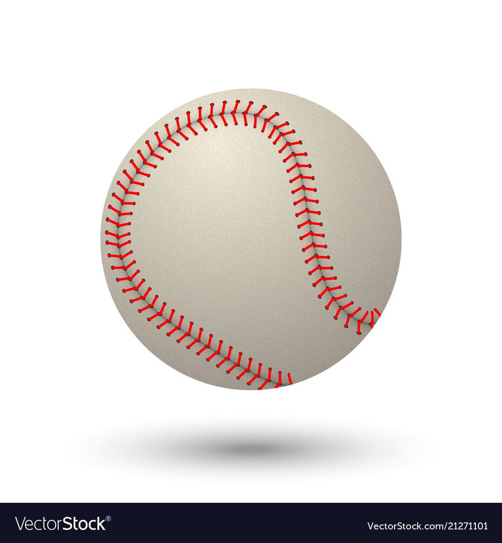 Realistic baseball ball
