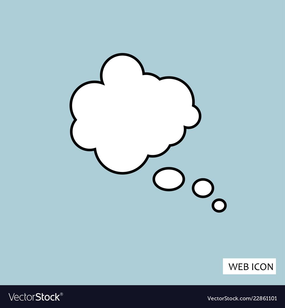 Think bubble icon think bubble icon eps10 think