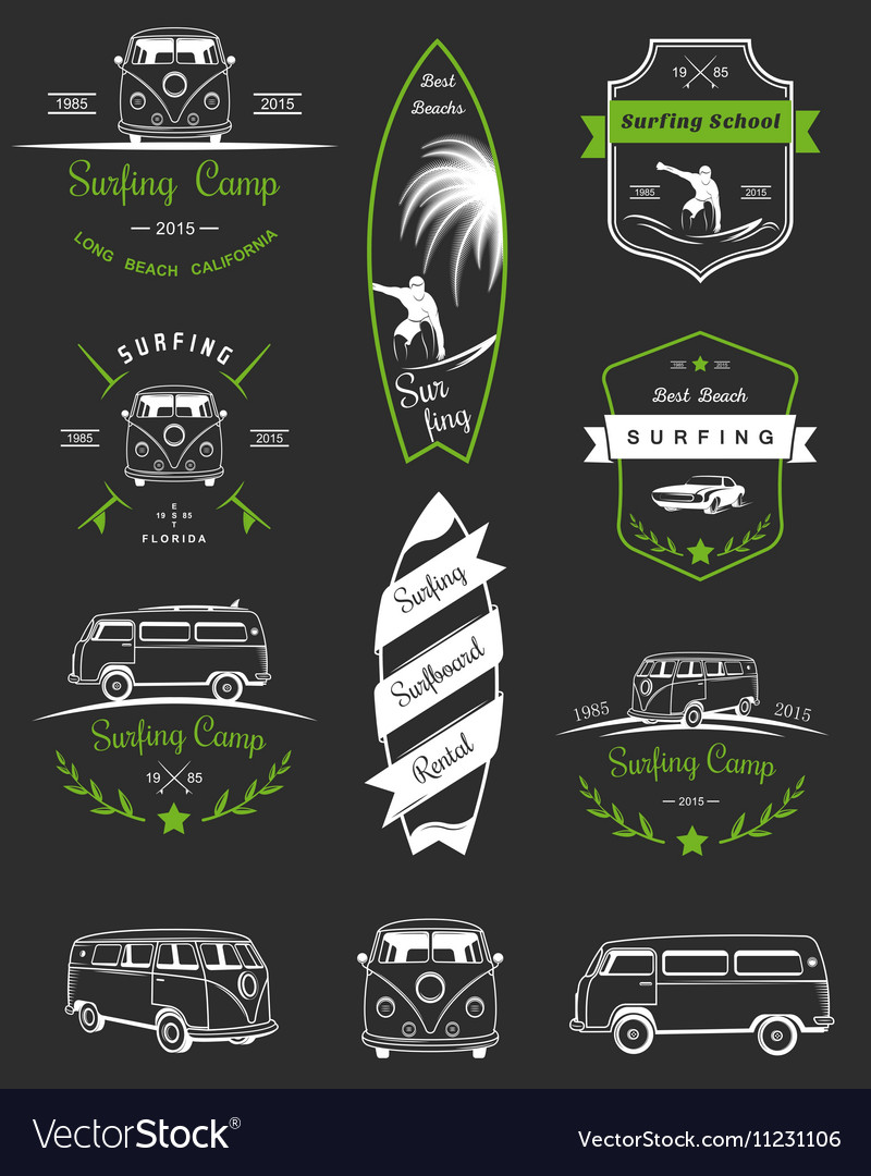Badges and Logos Surfing