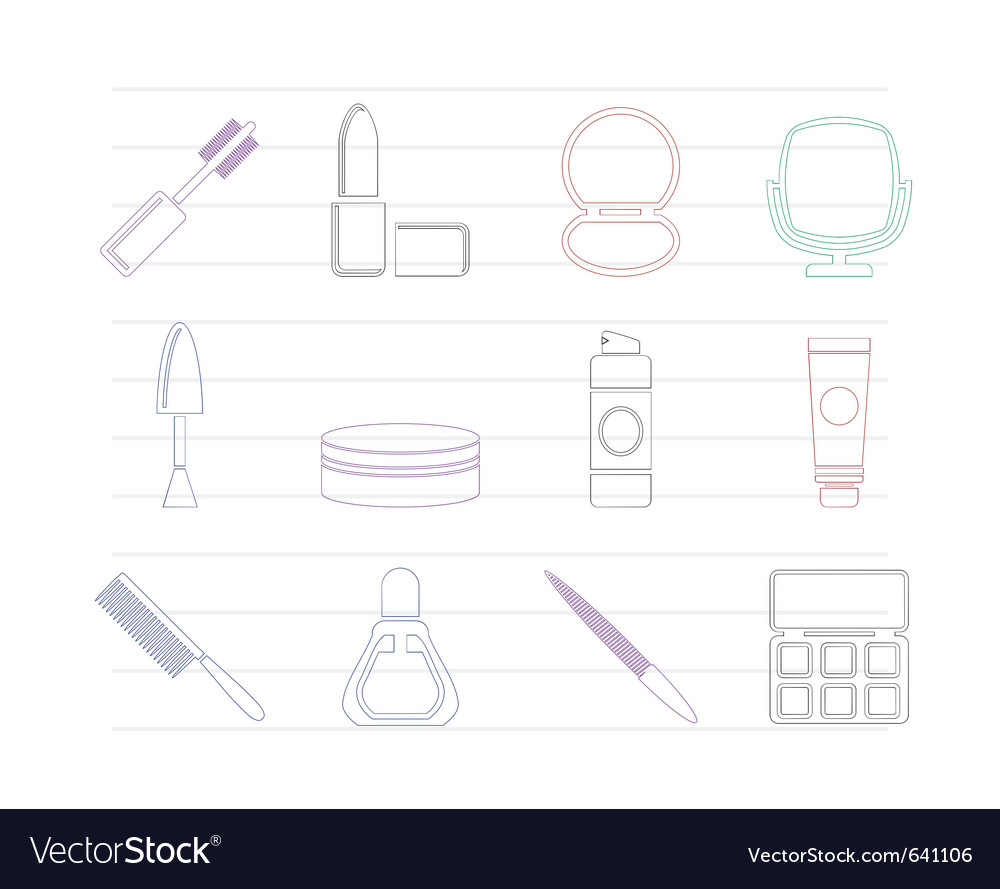 Cosmetic and make up icons vector image