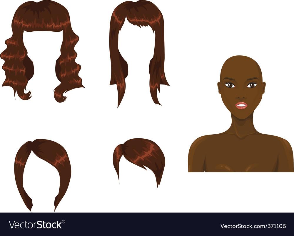 Hair brown vector image