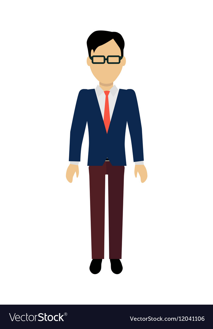 man character template royalty free vector image