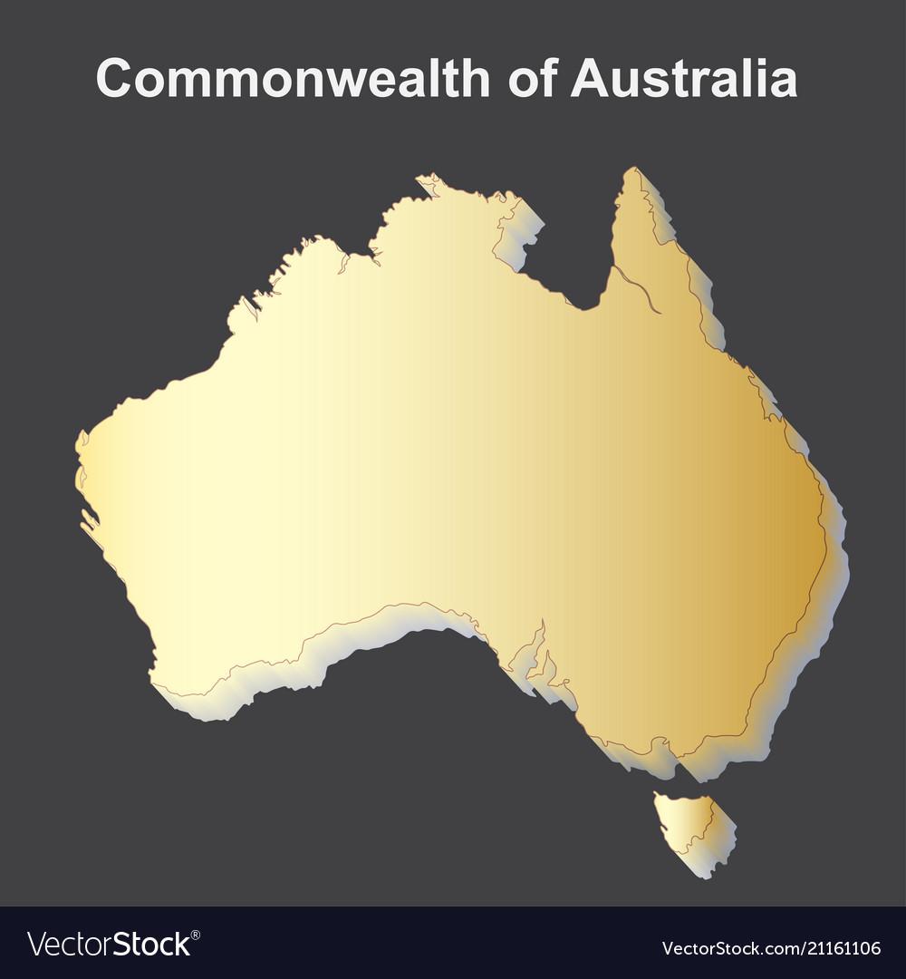 Map australia isometric concept 3d flat