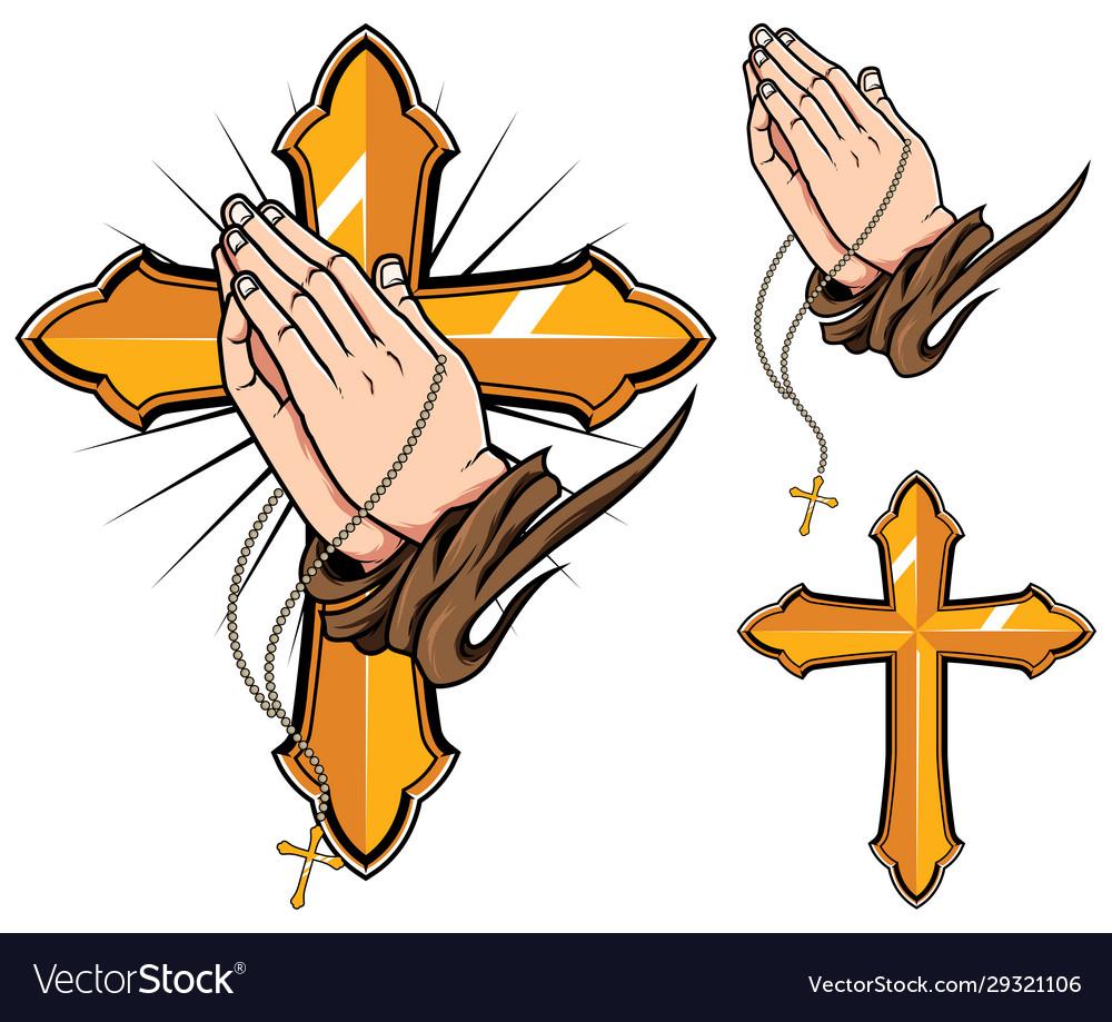 Praying hands symbols
