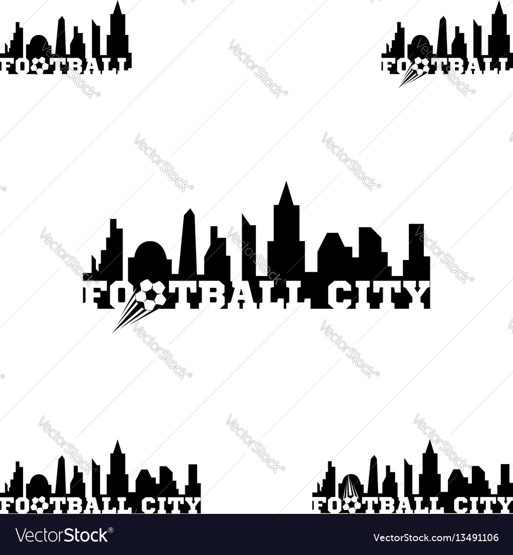 Set football logo for team and cup
