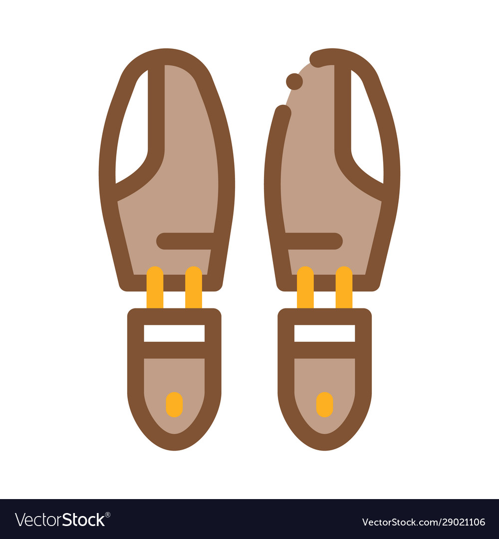 Shoe sole detail icon outline