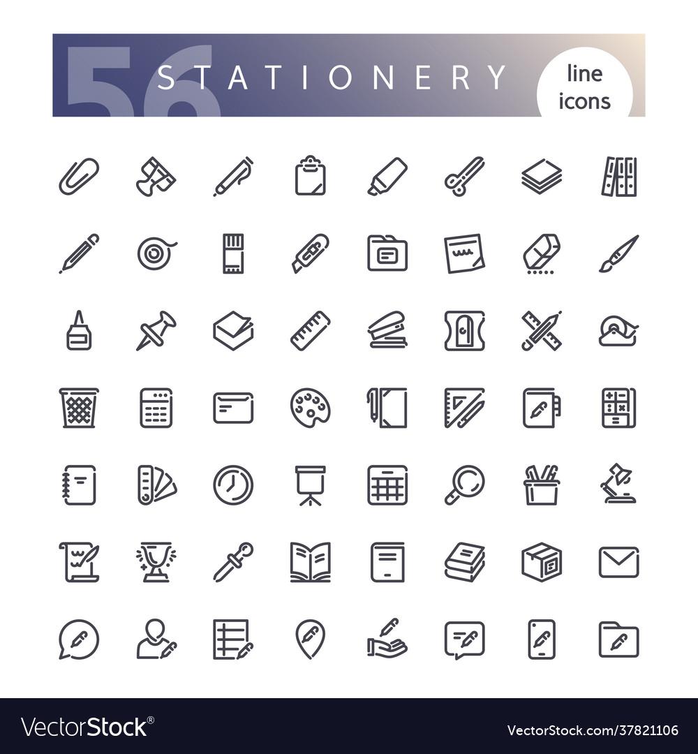 Stationery icons set