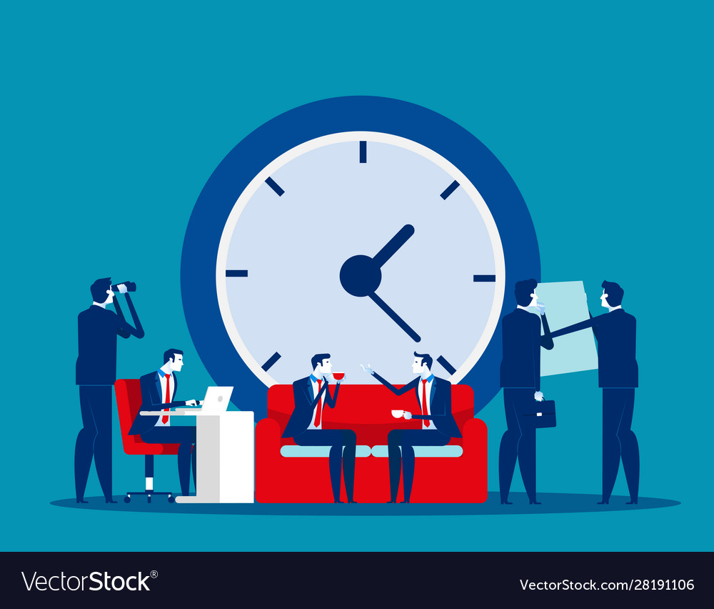 Time management concept business clock office