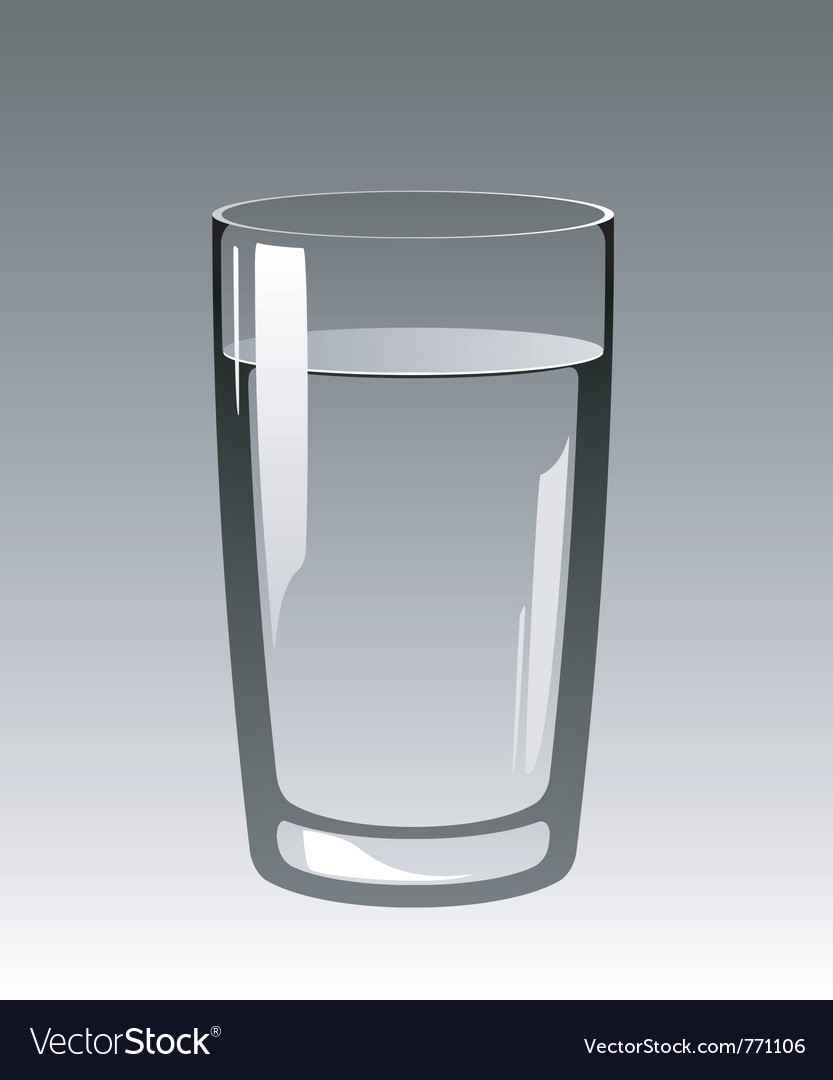 Water glass vector image